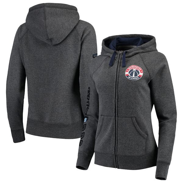 カールバンクス レディース ジャケット&ブルゾン アウター Washington Wizards G-III 4Her by Carl Banks Women's Playoff Suede Fleece Full-Zip Jacket Charcoal/Navy