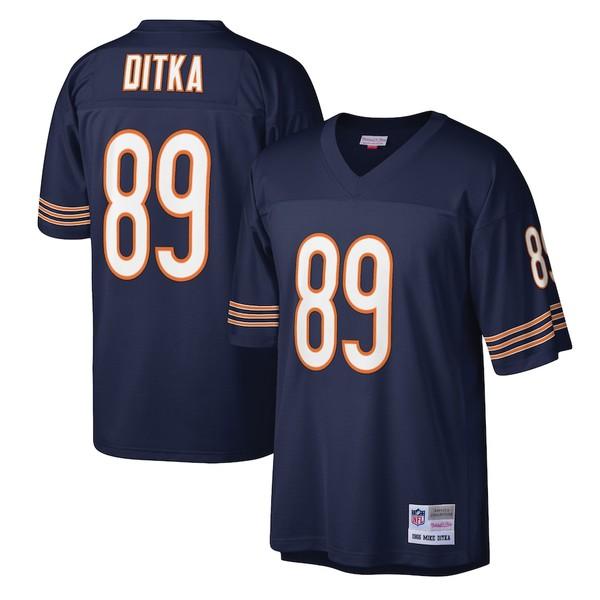ミッチェル&ネス メンズ シャツ トップス Mike Ditka Chicago Bears Mitchell & Ness Legacy Replica Jersey Navy