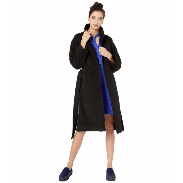 ネバーイーブン レディース コート アウター Wool Blend Tie Coat Caviar