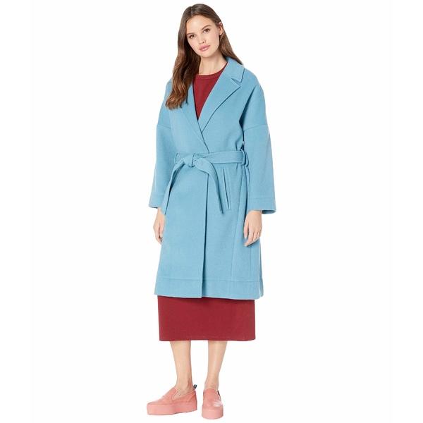 ネバーイーブン レディース コート アウター Wool Blend Tie Coat Salt Lake