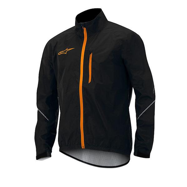 アルパインスターズ メンズ ジャケット&ブルゾン アウター Alpine Stars Men's Descender Windproof Jacket Black / Spicy Orange