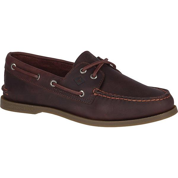 スペリー メンズ スニーカー シューズ Sperry Men's Authentic Original 2-Eye Pullup Boat Shoe Brown