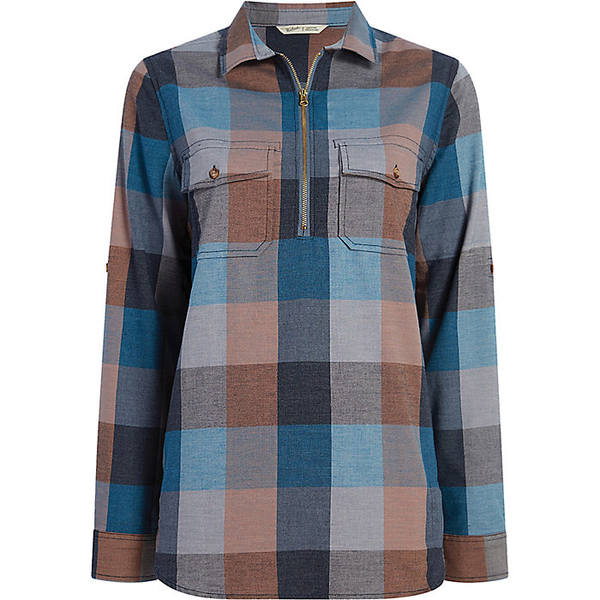 ウール リッチ レディース シャツ トップス Woolrich Women's Any Point Convertible Flannel Shirt Mountain Blue Multi