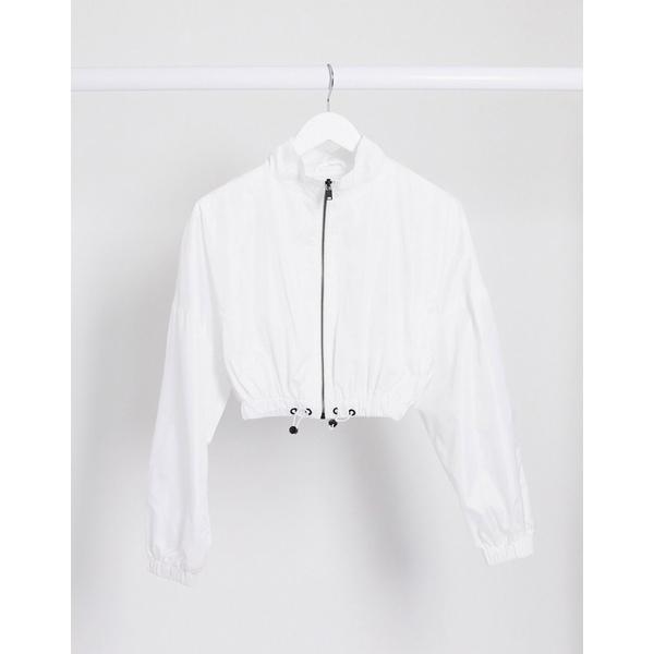 シックスジュン レディース ジャケット&ブルゾン アウター Sixth June relaxed cropped bomber jacket two-piece White