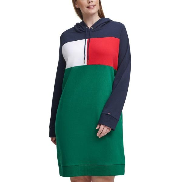 日本製 お気に入 トミー ヒルフィガー レディース トップス ワンピース Sky Captain Size Colorblocked Hoodie Plus 全商品無料サイズ交換 Multi Dress