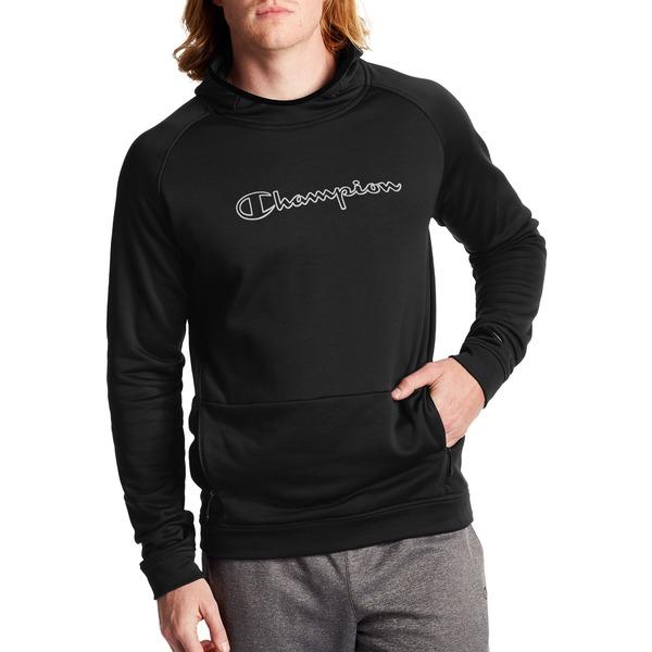 チャンピオン メンズ パーカー・スウェットシャツ アウター Champion Men's Sport Hoodie Black