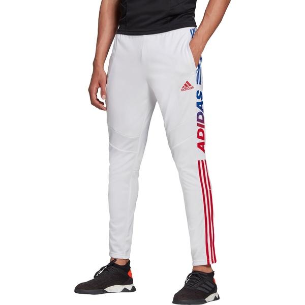 アディダス メンズ カジュアルパンツ ボトムス adidas Men's Tiro 19 Wordmark Training Pants White/Red/Blue