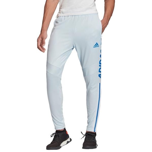アディダス メンズ カジュアルパンツ ボトムス adidas Men's Tiro 19 Wordmark Training Pants SkyTint