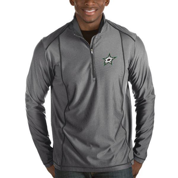 アンティグア メンズ ジャケット&ブルゾン アウター Dallas Stars Antigua Tempo Desert Dry HalfZip Pullover Jacket Black