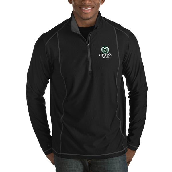 アンティグア メンズ ジャケット&ブルゾン アウター Colorado State Rams Antigua Tempo HalfZip Pullover Big & Tall Jacket Charcoal