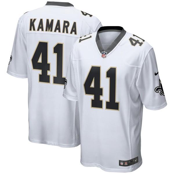 ナイキ メンズ ユニフォーム トップス Alvin Kamara New Orleans Saints Nike Game Player Jersey Black