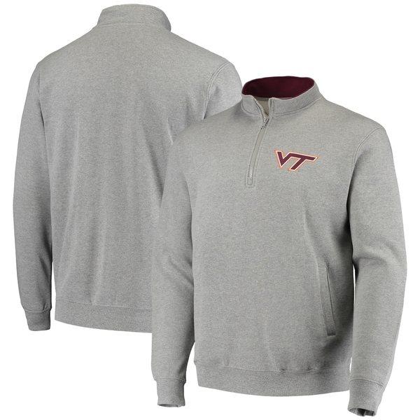 コロシアム メンズ ジャケット&ブルゾン アウター Virginia Tech Hokies Colosseum Tortugas Logo QuarterZip Pullover Jacket Black