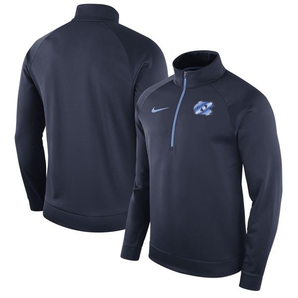 ナイキ メンズ ジャケット&ブルゾン アウター North Carolina Tar Heels Nike Performance HalfZip Pullover Jacket Navy