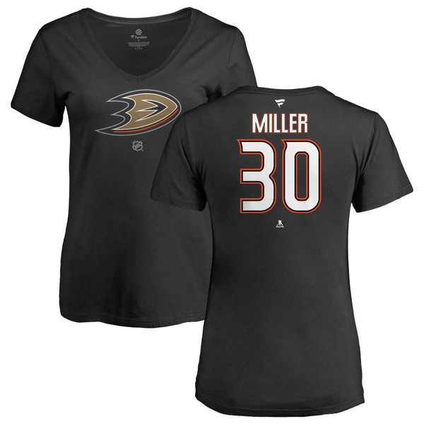 ファナティクス レディース Tシャツ トップス Anaheim Ducks Fanatics Branded Women's Personalized Team Authentic VNeck TShirt Black