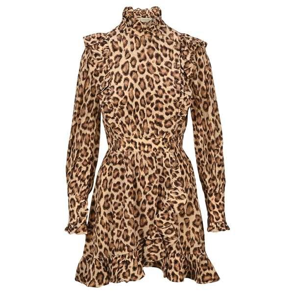 【正規取扱店】 ジマーマン レディース ワンピース トップス Zimmermann Lucky Frilled Leopard Print Mini Dress -, 阿武町 d8fa55f2
