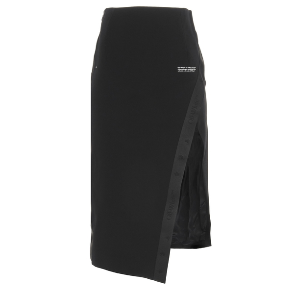 【名入れ無料】 オフホワイト レディース スカート ボトムス Off-White Asymmetric Skirt -, 自転車グッズのキアーロ ee2ec223