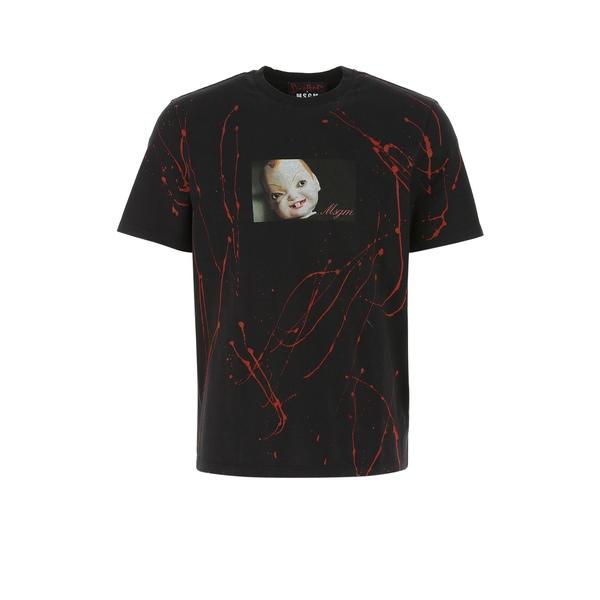 愛用  エムエスジイエム メンズ Tシャツ トップス MSGM Graphic Printed T-Shirt -, 南風原町 0a662cf8