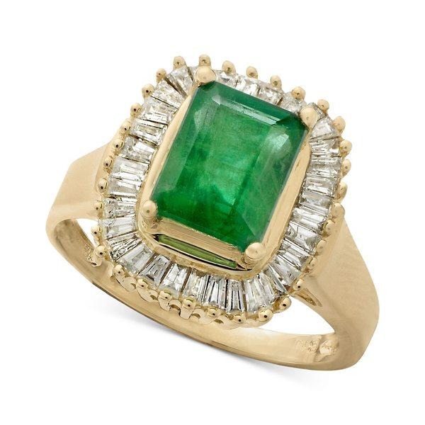 経典ブランド エフィー コレクション レディース Yellow リング アクセサリー Gemma Gemma Gold by EFFY® Emerald (1-3/8 ct. t.w.) and Diamond (1/2 ct. t.w.) Ring in 14k Yellow Gold Emerald, ヘアケアplus:a06a3046 --- greencard.progsite.com