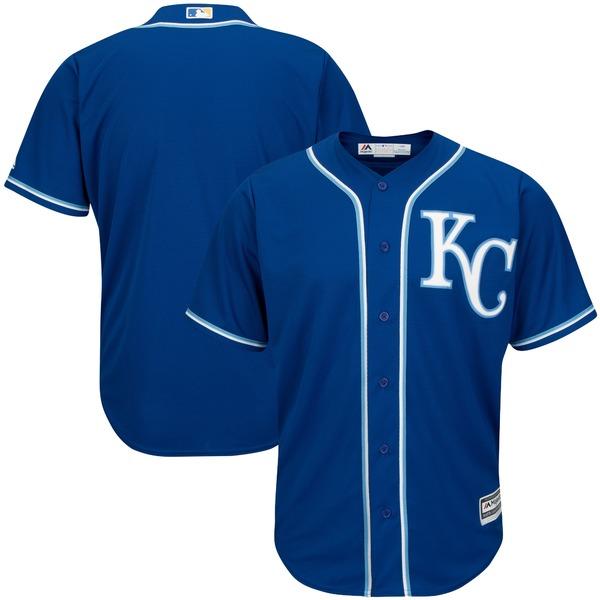 マジェスティック メンズ ユニフォーム トップス Kansas City Royals Majestic Big & Tall Cool Base Team Jersey Royal