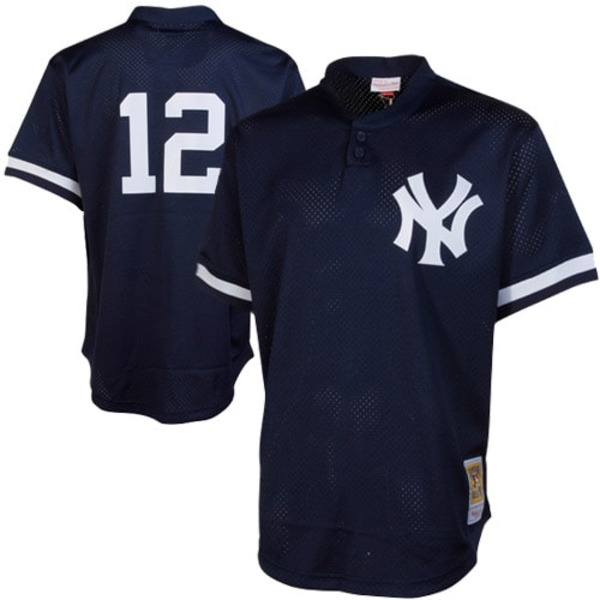 ミッチェル&ネス メンズ ユニフォーム トップス Wade Boggs New York Yankees Mitchell & Ness Cooperstown Mesh Batting Practice Jersey Navy