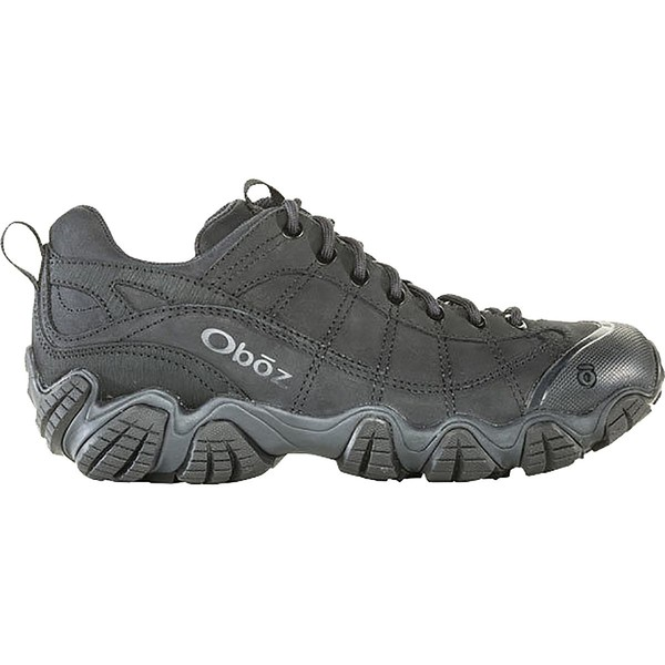 オボズ メンズ ハイキング スポーツ Firebrand II Low Leather Hiking Shoe - Men's Black