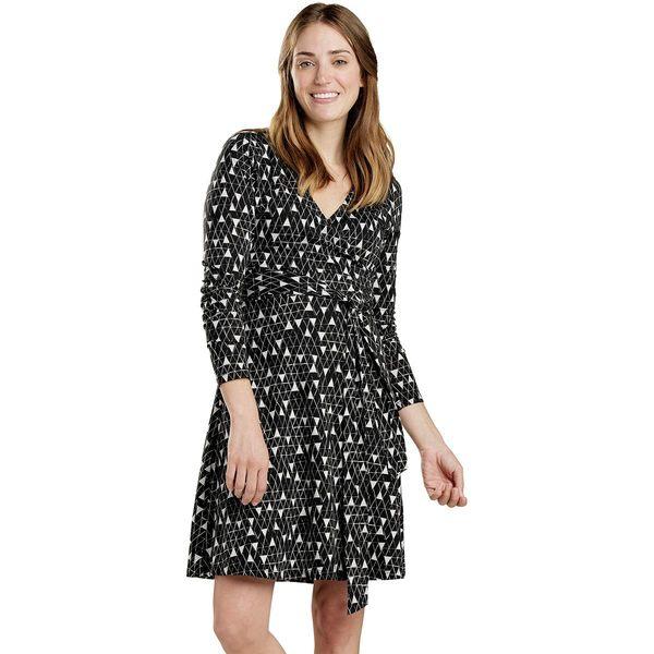 ドード アンドコー レディース ワンピース トップス Cue Wrap Dress - Women's Black Line Print