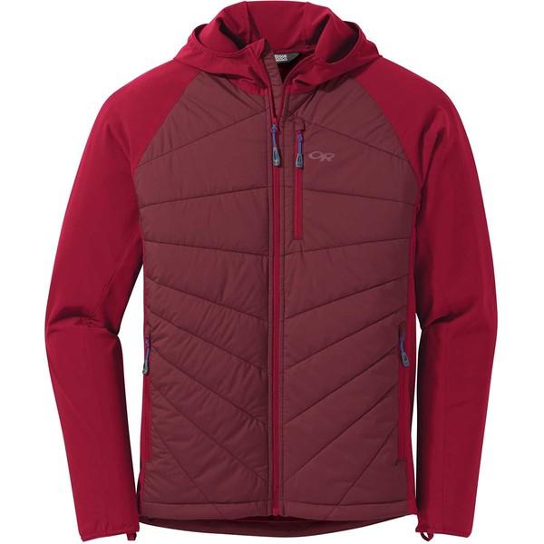 アウトドアリサーチ メンズ ジャケット&ブルゾン アウター Refuge Hybrid Hooded Jacket - Men's Retro Red/Agate