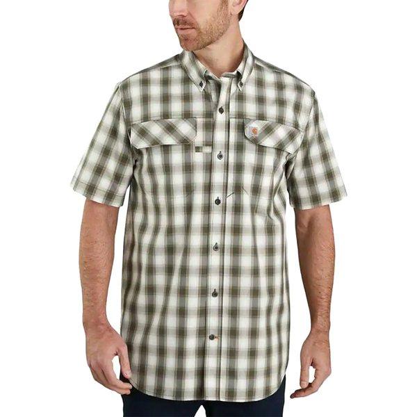 カーハート メンズ シャツ トップス TW258 Force Relaxed Fit Plaid Shirt - Men's Moss