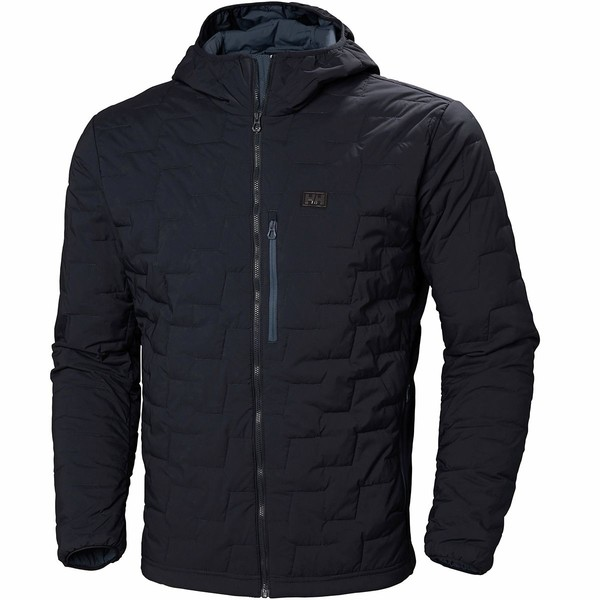 ヘリーハンセン メンズ ジャケット&ブルゾン アウター Lifaloft Hooded Stretch Insulator Jacket - Men's Navy