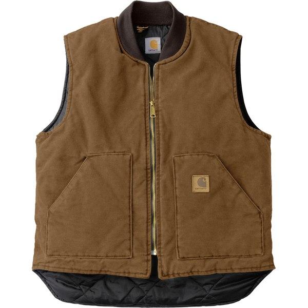 カーハート メンズ ベスト トップス Sandstone Vest - Men's Carhartt Brown