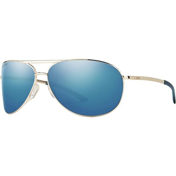 スミス メンズ サングラス・アイウェア アクセサリー Serpico 2 ChromaPop Polarized Sunglasses Gold/Polarized Blue Mirror