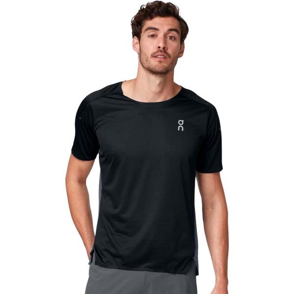オン ランニング メンズ シャツ トップス Performance T-Shirt - Men's Black/Shadow
