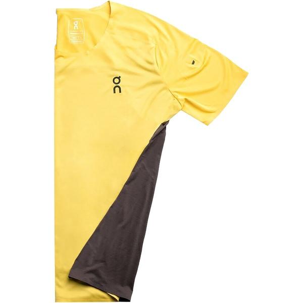 オン ランニング メンズ シャツ トップス Performance T-Shirt - Men's Mustard/Pepple