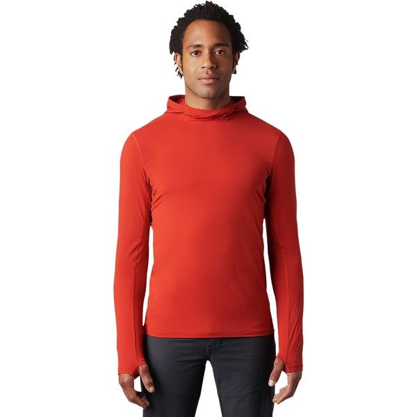 マウンテンハードウェア メンズ シャツ トップス Crater Lake Long-Sleeve Hooded Shirt - Men's Desert Red