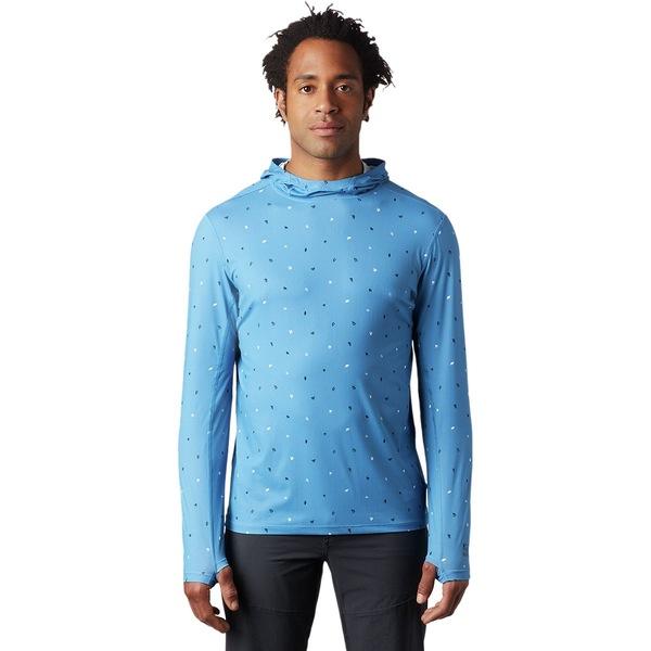 マウンテンハードウェア メンズ シャツ トップス Crater Lake Long-Sleeve Hooded Shirt - Men's Deep Lake Cam Print