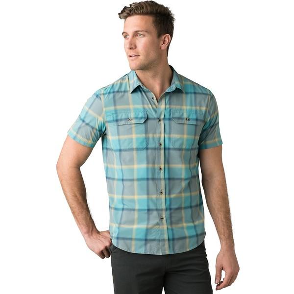 プラーナ メンズ シャツ トップス Cayman Plaid Short-Sleeve Shirt - Men's Smoky Blue