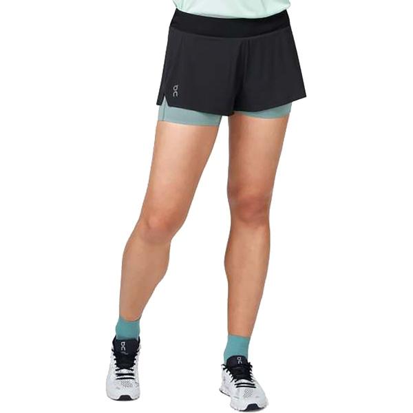オン ランニング レディース カジュアルパンツ ボトムス Running Shorts - Women's Black/Sea