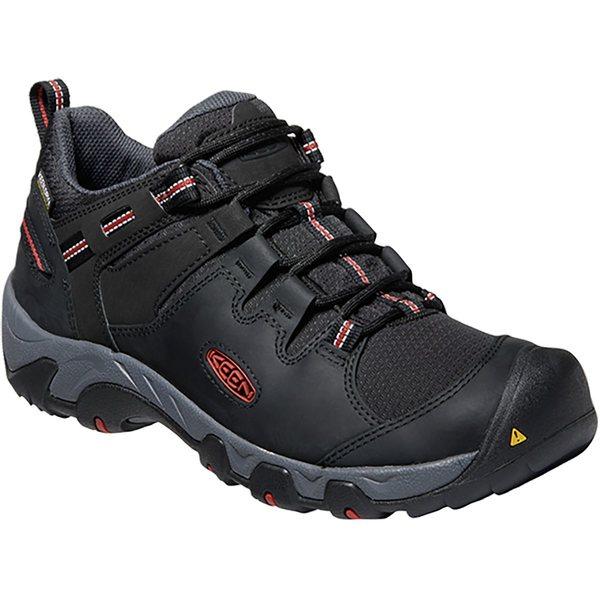 キーン メンズ ハイキング スポーツ Steens WP Hiking Shoe - Men's Black/Bossa Nova