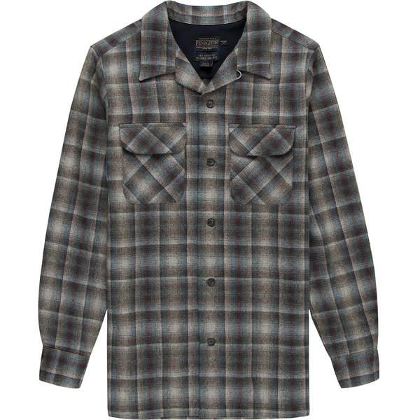 ペンドルトン メンズ シャツ トップス Fitted Board Shirt - Men's Grey Multi Ombre