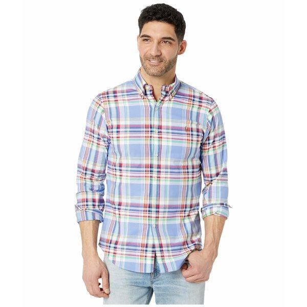 ラルフローレン メンズ シャツ トップス Slim Fit Stretch Oxford Shirt Blue/Red Multi