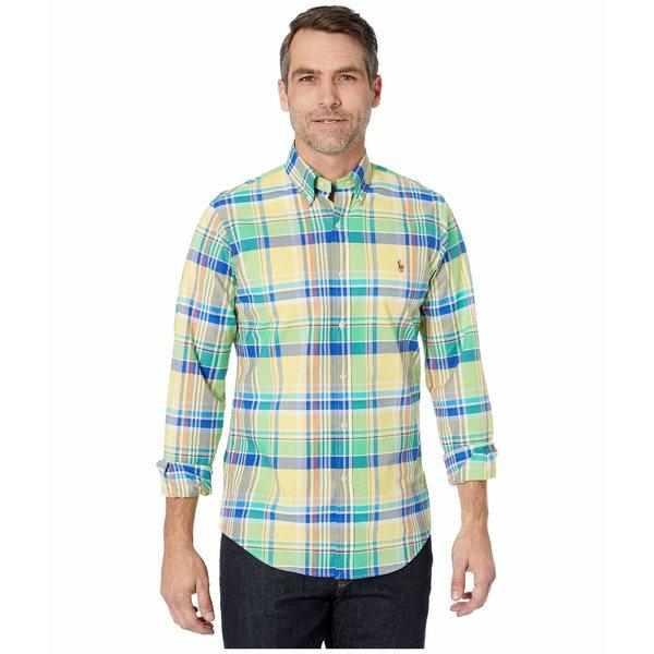 ラルフローレン メンズ シャツ トップス Slim Fit Stretch Oxford Shirt Yellow/Green Multi