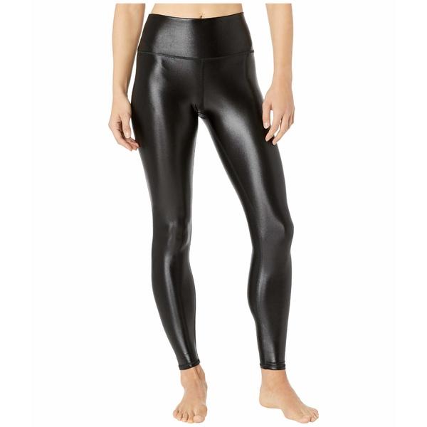 アロー レディース カジュアルパンツ ボトムス High Waist Shine Airbrush Leggings Black Shine
