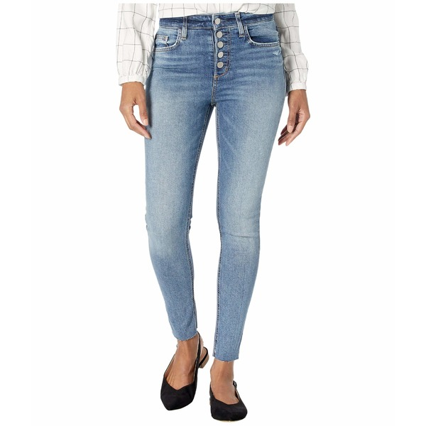 ジョーズジーンズ レディース デニムパンツ ボトムス Charlie Ankle Cut Hem Exposed Button Fly Jeans in Valerian Valerian