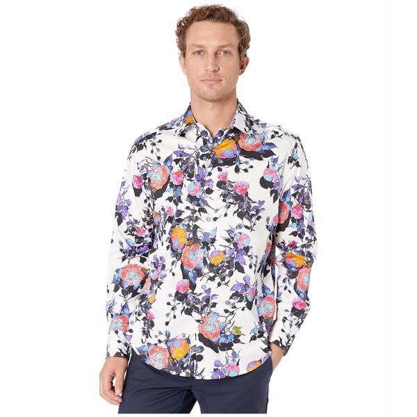 ロバートグラハム メンズ シャツ トップス Front Runner Button-Up Shirt White