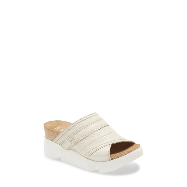 フライロンドン レディース サンダル シューズ Suze Slide Sandal Off White Mousse Leather