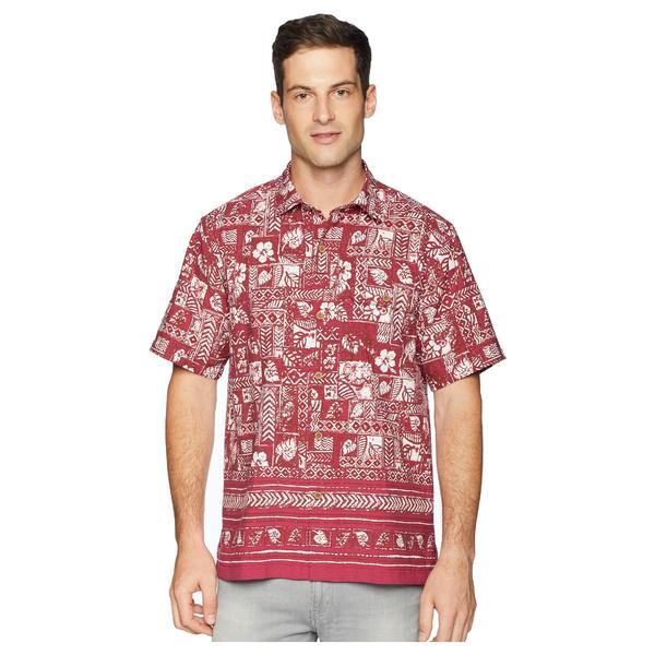 トッミーバハマ メンズ シャツ トップス Veracruz Border Tiles IslandZone Camp Shirt Beet Red