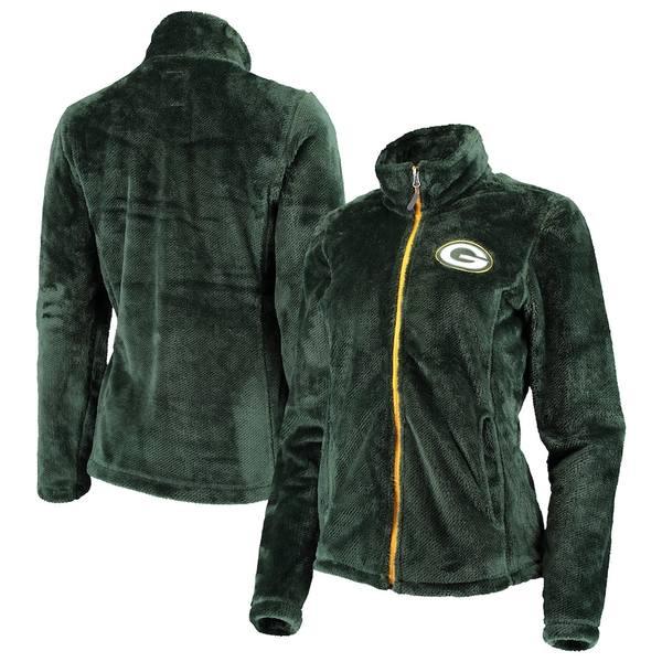 カールバンクス レディース ジャケット&ブルゾン アウター Green Bay Packers G-III 4Her by Carl Banks Women's Goal Line Full-Zip Jacket Green
