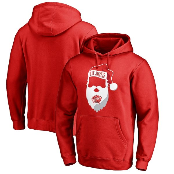 ファナティクス メンズ パーカー・スウェットシャツ アウター Columbus Blue Jackets Fanatics Branded Jolly Pullover Hoodie Red