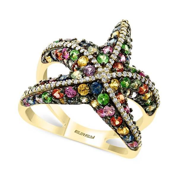 【1着でも送料無料】 エフィー コレクション レディース リング 14k EFFY® アクセサリー EFFY® Multi-Sapphire (2-1/2 & ct. t.w.) & Diamond (1/4 ct. t.w.) Starfish Ring in 14k Gold Multi, 造花の専門店 きつつき:4112f54b --- greencard.progsite.com