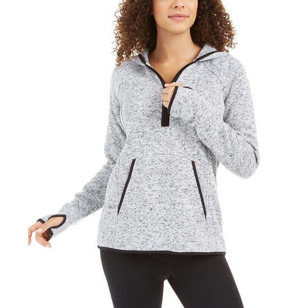 イデオロギー レディース トップス 高額売筋 カットソー Bright 全商品無料サイズ交換 Sweater 公式通販 White Quarter-Zip Hoodie